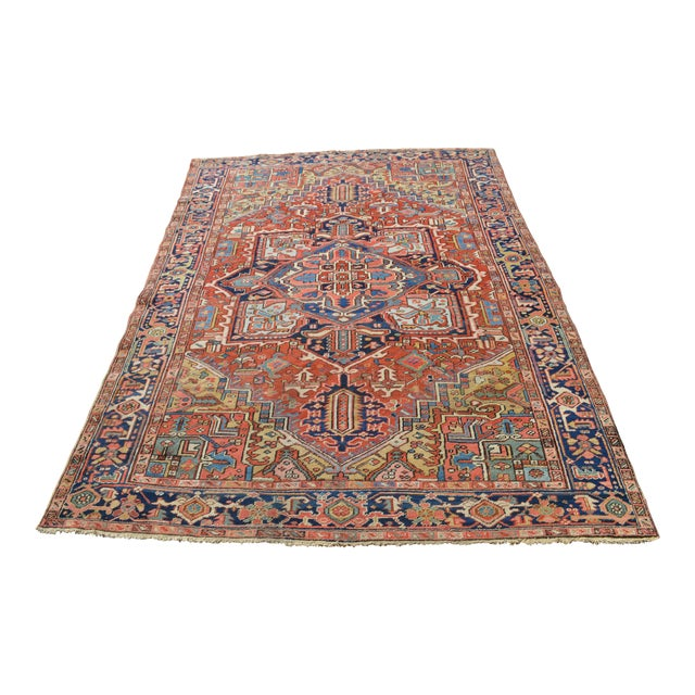 "Antique Persian Heriz Rug - 7'7"" X 10'11"" - Image 1 of 8"