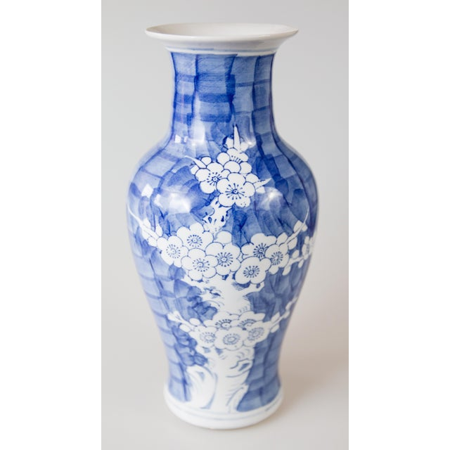 Vintage Chinese Blue and White Cherry Blossom Vase For Sale In Houston - Image 6 of 6