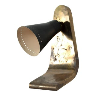MidCentury Vintage Modern Italian Brass Wall Sconce For Sale