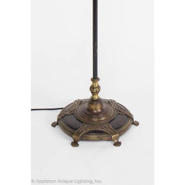 Hollywood Regency Elegant Restored Vintage Black and Gold Three Light Floor Lamp For Sale - Image 3 of 10