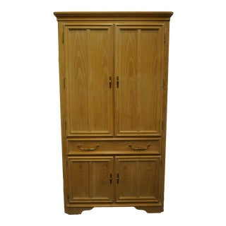 "Stanley Furniture Pickled Oak 42"" Door Chest/Armoire For Sale"