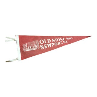 1940's Newport, Rhode Island Old Stone Mill Tourist Pennant For Sale