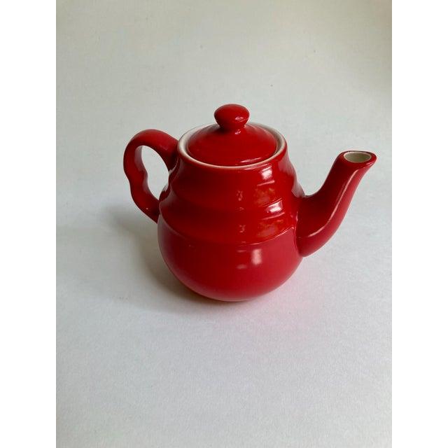 Universal Cambridge Red Ceramic Beehive Tea Pot For Sale - Image 12 of 13