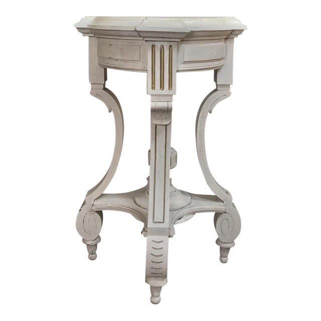 19th Century French Henri II Painted Lamp Table ~ Pedestal For Sale