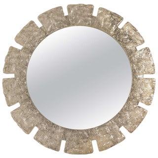 Circular Resin Starburst Wall Mirror For Sale