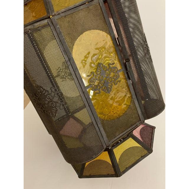 Vintage Moroccan Lantern Candle Holder For Sale - Image 10 of 12