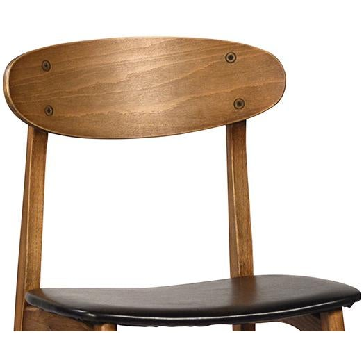 Modern Scoop Back Dining Chair - Image 2 of 2