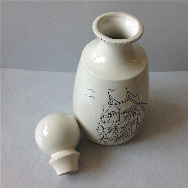 Hand-Crafted Nautical Pottery Decanter - Image 7 of 9