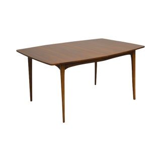 Mid Century Danish Modern Style Vintage Walnut Dining Table For Sale