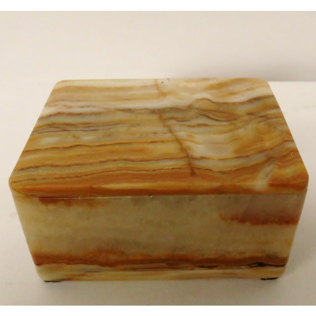 Vintage Carved Onyx Box For Sale - Image 10 of 10