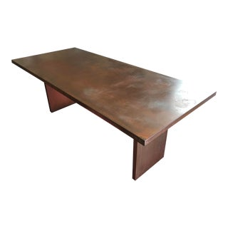 Desiron Designed Rust-Colored Steel Dining Room Table For Sale