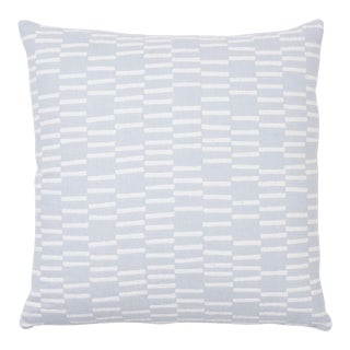 Schumacher X Caroline Z Hurley Cedar Tree Neck (Reversible) Pillow in Sky For Sale