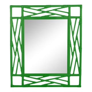 Chippendale Mirror - Bright Green For Sale