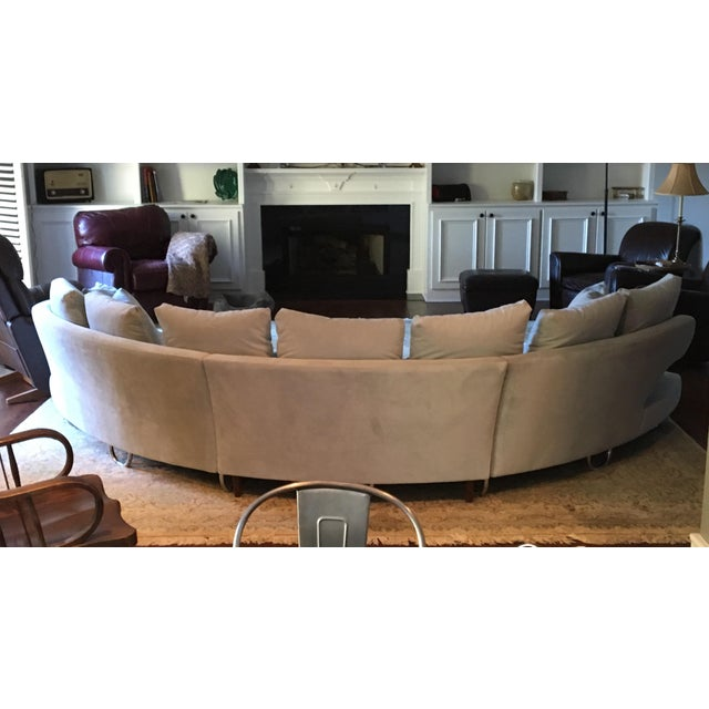 Danish Modern Vintage Mid Century Modern Curved Sectional Couch B&b Italia Style For Sale - Image 3 of 11