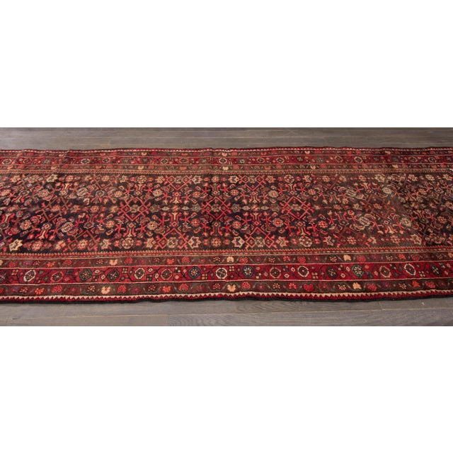 "Apadana - Vintage Persian Rug, 3'8"" x 13'2"" For Sale - Image 4 of 5"