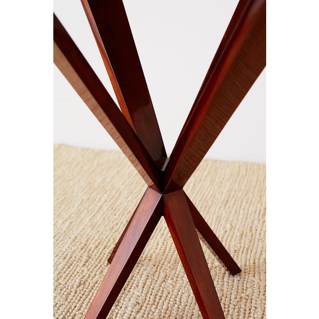 Art Deco Style Mahogany and Goatskin Vellum Drinks Table For Sale - Image 10 of 13