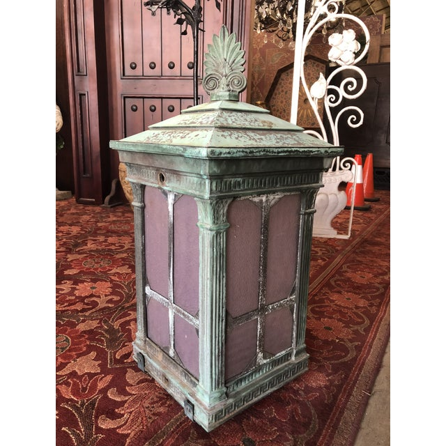 1910s Neoclassical Copper Lantern For Sale - Image 13 of 13