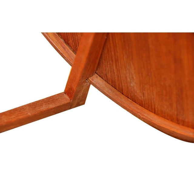 Wood Mid Century Uno and Osten Kristiansson Teak Table Mirror Luxus Sweden For Sale - Image 7 of 12