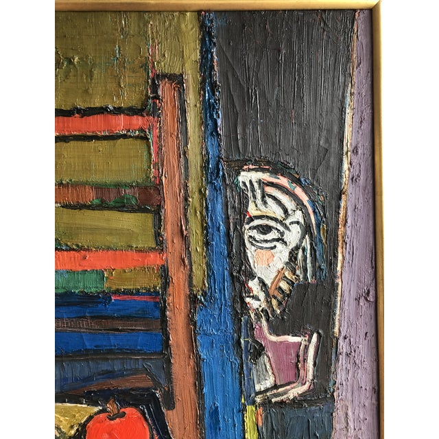 Abstract 20th Century Abstract Still Life Oil on Canvas For Sale - Image 3 of 6