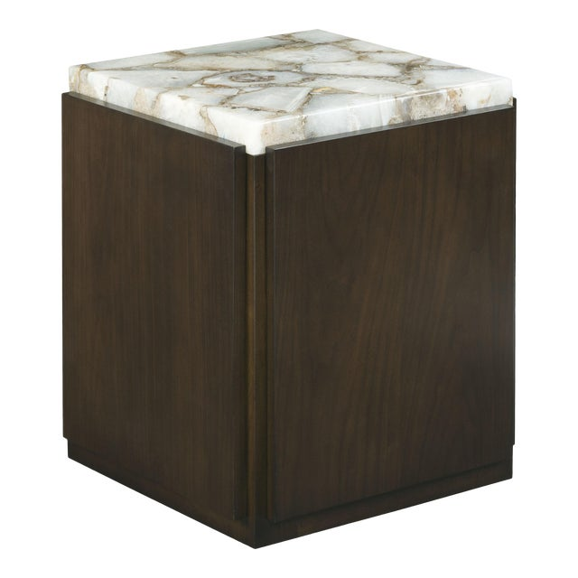 Century Furniture Tribeca Square Bunching Cocktail Table with Quartz Top For Sale