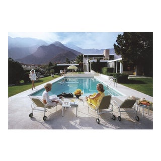 Original Slim Aarons Poolside Gossip Photographic Print For Sale