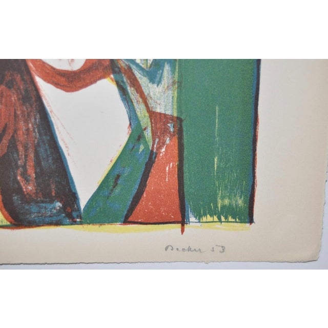 Mid Century Figural Abstract by Becker c.1953 For Sale - Image 4 of 5