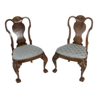 George III Reproduction Side Chairs - a Pair