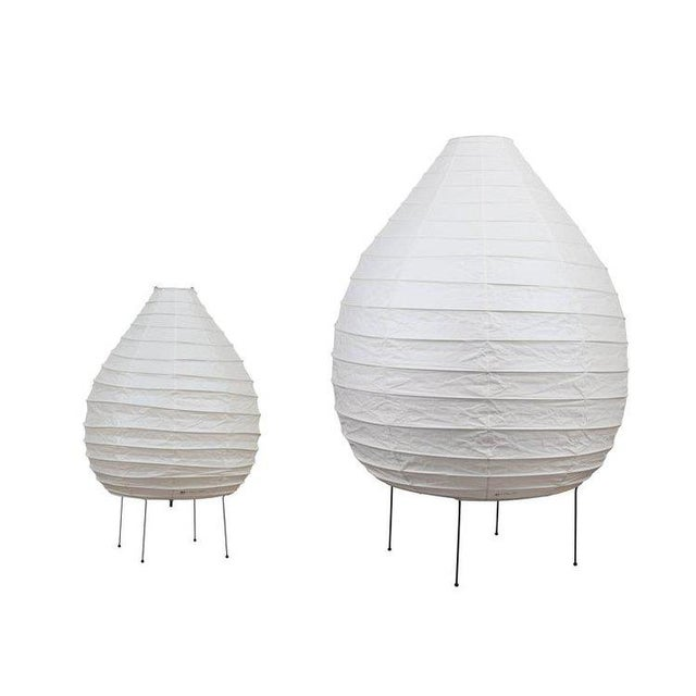 Large Isamu Noguchi Akari 23n Floor Lamp - Image 2 of 8