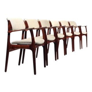 Erik Buch Rosewood Model 50 Armchair Dining Chairs - Set of 6 For Sale