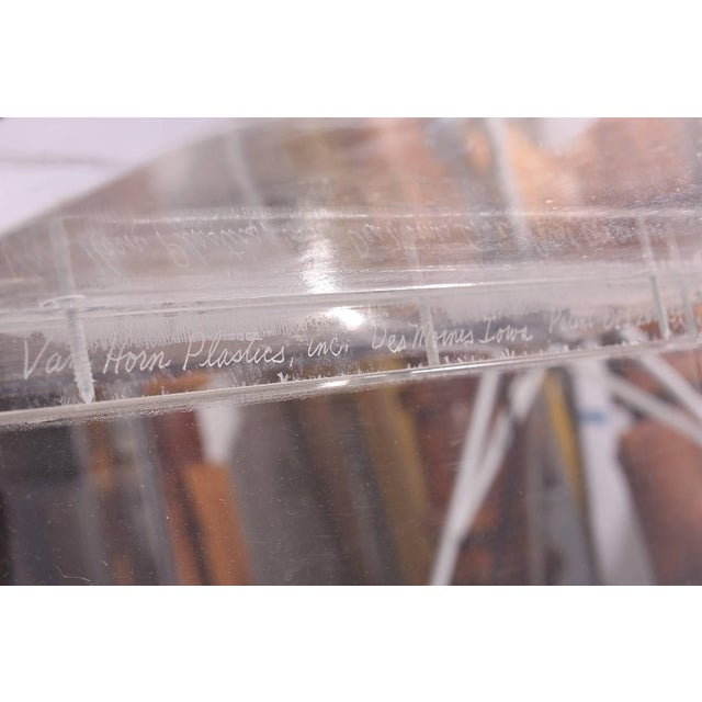Signed Robert Van Horn Lucite Ribbon Chair and Ottoman For Sale In Phoenix - Image 6 of 7