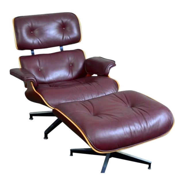 herman miller charles and ray eames lounge chair and ottoman chairish