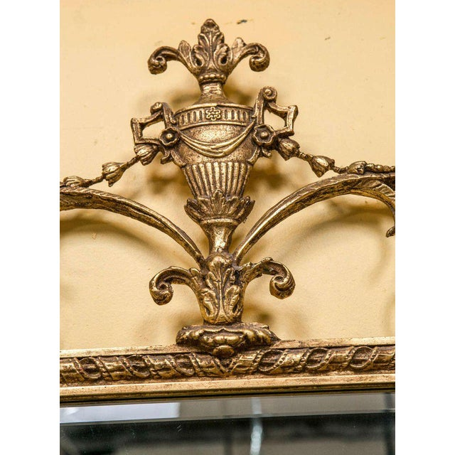 1940s Adams Style Beveled Mirror in Finely Carved Frame For Sale - Image 5 of 11