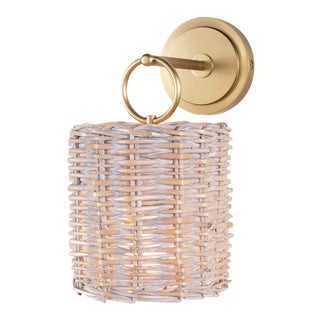 Nantucket Sconce in Natural Brass For Sale