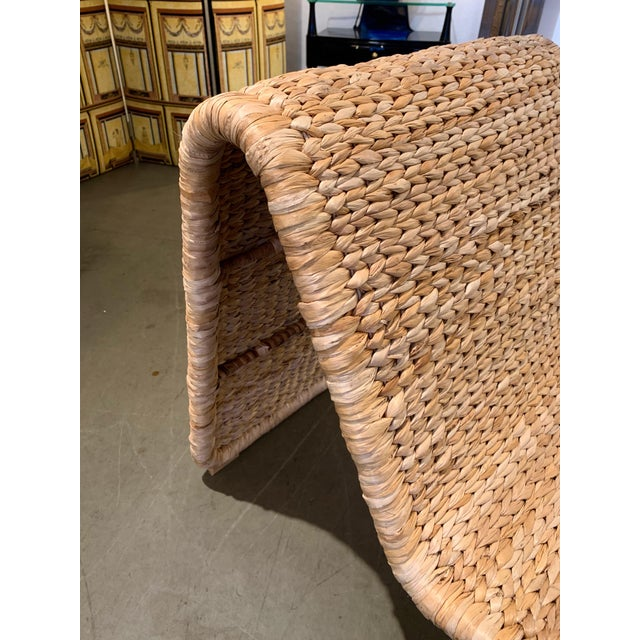 Contemporary 1980s Tito Agnoli P3 Rattan Lounge Chairs- a Pair For Sale - Image 3 of 12