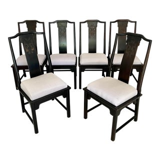 Vintage Century Furniture Chinoiserie Ming Style Dining Chairs - Set of 6 For Sale
