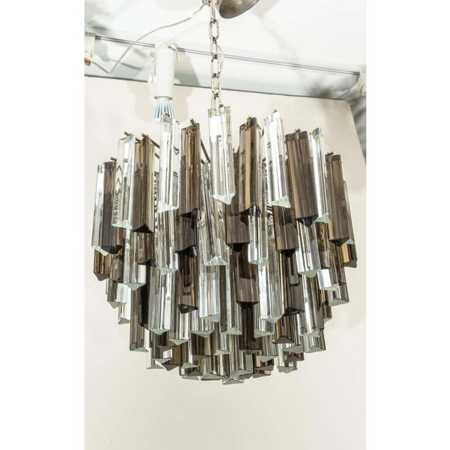 Murano Glass Chandelier Smokey Topaz by Venini for Camer Glass For Sale In West Palm - Image 6 of 10