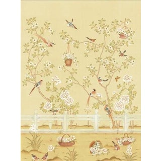 Casa Cosima Yellow Indra Diptych Wallpaper Mural - 2 Panels For Sale