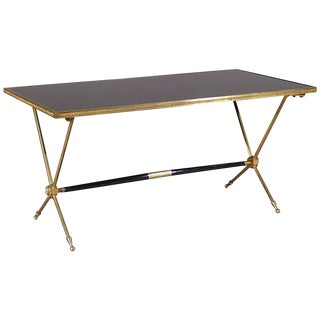 Raphaël Brass and Opaline Coffee Table, 1960s For Sale