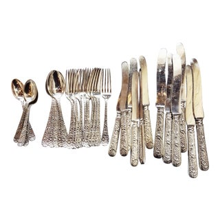 Antique Silver Plated Tiffany & Co Flatware - Set of 36 For Sale