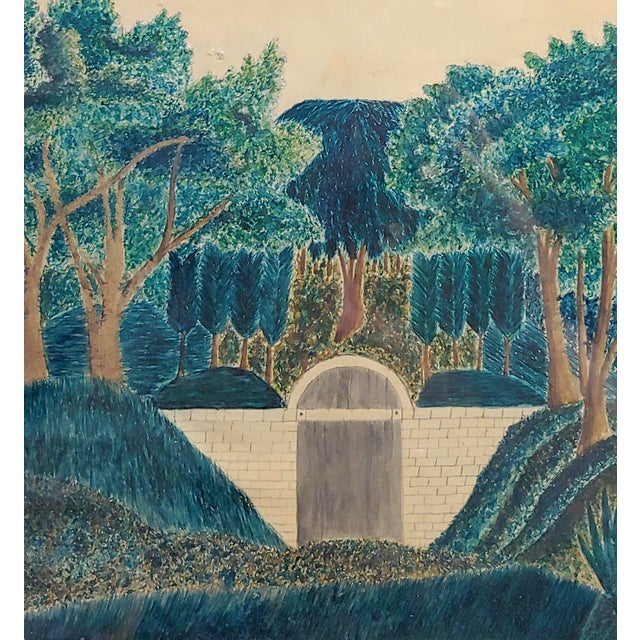 Early 19th Century Painting of George Washington's Tomb For Sale - Image 4 of 7