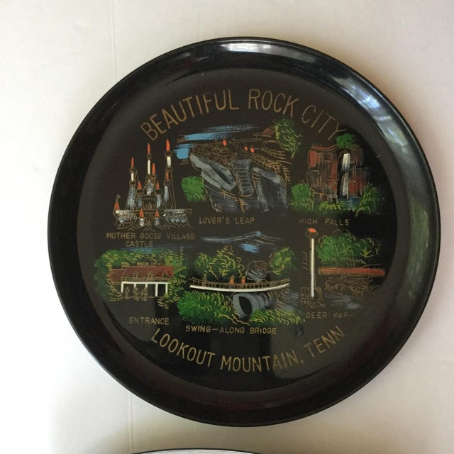 Mid-Century Modern Tennessee Mid-Century Souvenir Trays - A Pair For Sale - Image 3 of 11