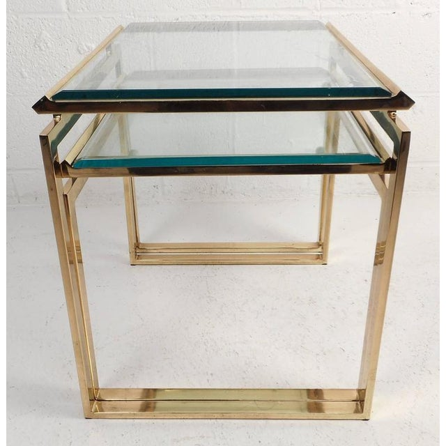 Mid-Century Modern Stacking Tables in the Style of Guy Lefevre - Image 3 of 9