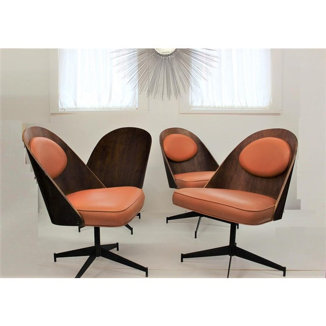 Mid Century Modern Bent Plywood and Vinyl Dining Chairs For Sale - Image 13 of 13