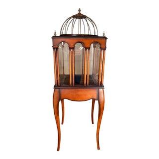 Vintage Bombay Bird Cage Plant Stand Terrarium For Sale