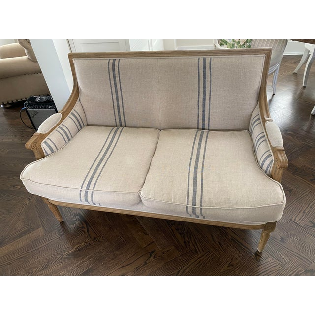 French Style Settee by One Kings Lane For Sale - Image 4 of 5