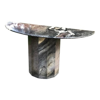 Brutalist Italian Marble Console Table For Sale