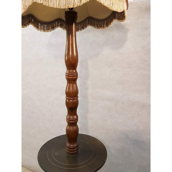 1900 - 1909 Early 20th Century Solid French Floor Lamp With Attached Table For Sale - Image 5 of 9