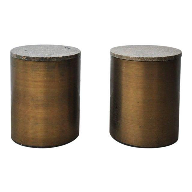 Paul Mayen Storage Side Tables For Sale