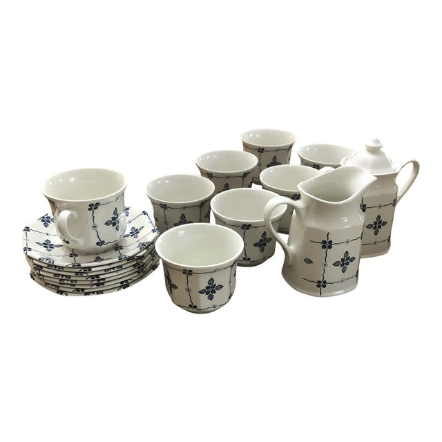 """Royal Staffordshire """"Homespun"""" Ironstone by Meakin - 18 Pieces For Sale"""