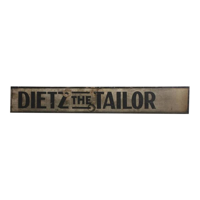 1900s Hand-Painted Wood Sign the Tailor - Image 1 of 2